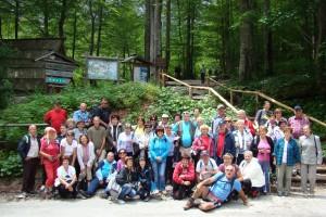 Udeleženci pohoda v Logarsko dolino