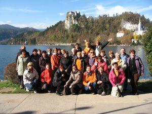 Vesela druščina praznovala 3.rojstni dan na Bledu